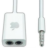 COMBO Of Stereo Audio Splitter Cable For Mobile / Iphone / Tablet / MP3 + POUCH