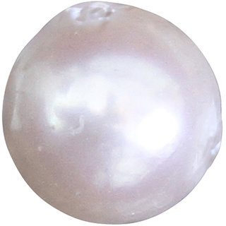 Vardan Gems 5.17ct Creamish White Pearl (Moti) Birthstone Gemstone