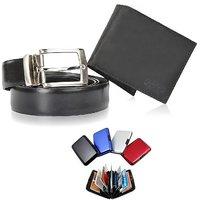 Men's Belt + Wallet + Aluma Wallet Combo