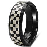 17.30 Grams Black Laser Etched Celtic Design 8mm Tungsten Carbide Wedding Band Ring Osr081tt11