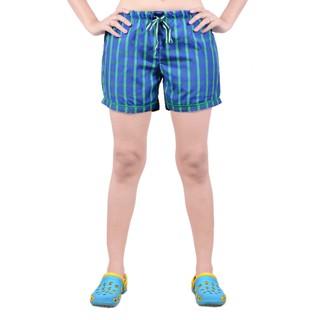 Abony BlueGreen Cotton Stripes Shorts