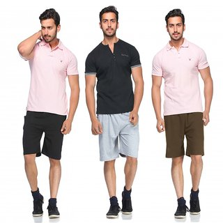 Demokrazy Pack Of Three Shorts For Men 3Pcs