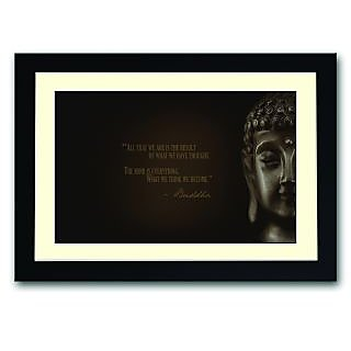 What We Think We Become Quote By Buddha Framed Poster