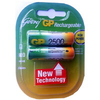 Godrej GP 2 X AA 2500mAh Ni-MH Rechargeable Batteries