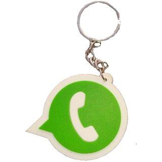 Key Chain WhatsApp Logo Rubber Key Ring set of 2