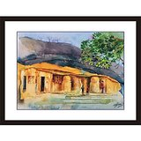 Ancient Caves Oil Painting
