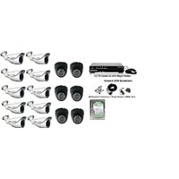 Maximus CCTV Camera Combo Kit 10 Bullet 6 Dome