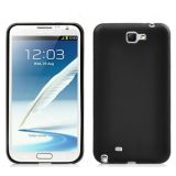 Silicone Back Soft Cover Skin Tpu Case For Samsung Galaxy Note 2 N7100 Black