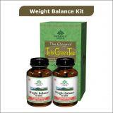 Weight Balance Kit 2 Weight Balance Capsules Bottles  1 Tulsi Green Tea 25 Tea Bags Box