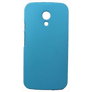 FCS Rubberised Hard Back Case For Motorola Moto G2 In Matte Finish-Sky Blue