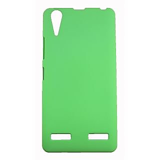 FCS Ruberrised Hard Back Case For Lenovo A6000 In Matte Finish-Green