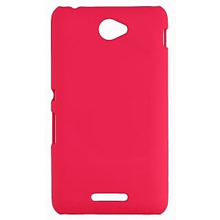 FCS Rubberised Hard Back Case Cover For Sony Xperia E4 In Matte Finish-Pink