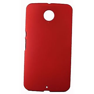FCS Rubberised Hard Back Case For Lg Nexus 6 In Matte Finish-Red
