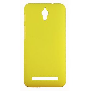 FCS Ruberrised Hard Back Case For Asus Zenfone C In Matte Finish-Yellow