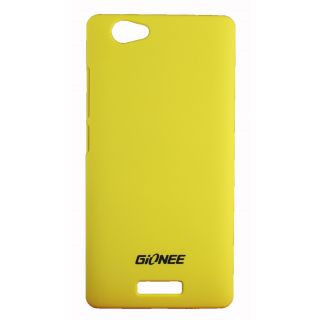 FCS Rubberised Hard Back Case Cover For Gionee Marathon M2 In Matte Finish.-Yellow