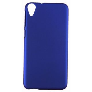 FCS Rubberised Hard Back Case Cover For Htc Desire 820 In Matte Finish - Blue