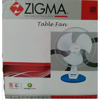 Wow  Awesome ZIGMA Air 400mm Table Fan White available at ShopClues for Rs.1666