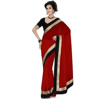 Hot and Simple red saree