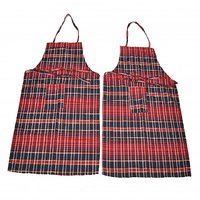 Welhouse India Assorted Colours Checked Apron (BUY 1 GET 1 FREE)