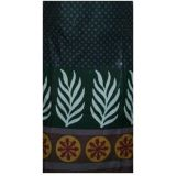 Green Cotton Unstitched  Printed Kurta 02i12-0k09c