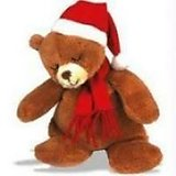 Teddy Bear With Santa Clause Hat