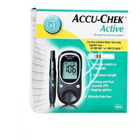 Accu-Chek Active Blood Glucose Monitor System Glucose Meter (Free 10 Test Strips)