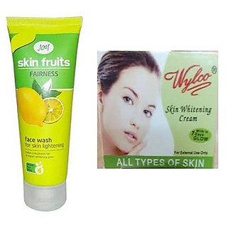Joy Skin Fruits Fairness Face Wash - 50 ml and Wylco Skin Lightening Cream Combo