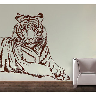 Decor Kafe Tiger Wall Decal 30x30 Inch available at ShopClues for Rs.329