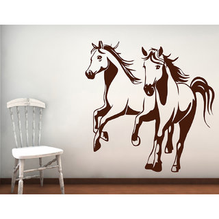 Decor Kafe Horses Wall Decal 30x30 Inch available at ShopClues for Rs.329