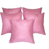 Quilting Cushion Cover Pink 5 Pc Set