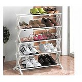 5 Tier Foldable Stainless Steel Shoe Rack 16 Pair