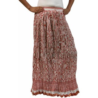 Saffron Craft Printed Cotton Skirt
