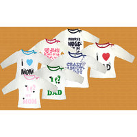 Goodway Infants MOM & DAD-1  Combo Pack of 7 T-Shirts 0-6 M