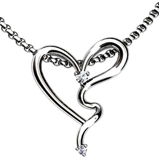 FacetzInspire Diamond Heart Gold Pendant Design - 2