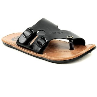 Mens Black Brown Open Sandals