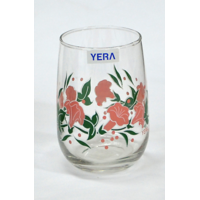 Yera Glassware Mirage Printed Design Blown Tumbler - Lilly - TB10-D9PNK - (6 pieces,280 ml )