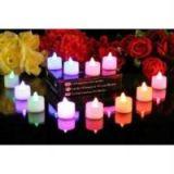 Set Of 25 Led Flameless Flash Candle Light