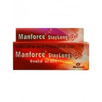 Manforce Extra Dotted Strawberry Condoms (3'S)  + Stay Long Gel Combo (1)