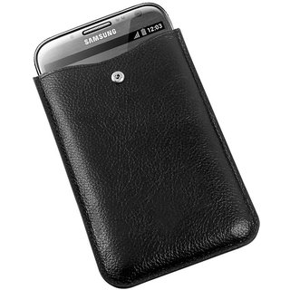 iLeathergraph Samsung Galaxy Note 2 Cover  Black  available at ShopClues for Rs.2250