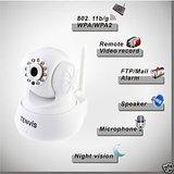 Tenvis JPT3815W IP Wifi Camera Wireless Night Vision Security Camera White