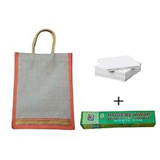 Jute Bag with Foil Tissue Paper