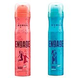 EngageDeo (Blush, Spell) Pack Of 2- 165ml Each( For Women)