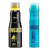 Engage  Deo (Urge, Spell) Pack Of 2- 165ml Each(women And Men)