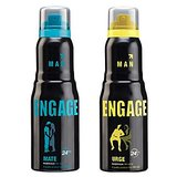 Engage  Deo (Mate, Urge) Pack Of 2- 165ml Each( For Men )