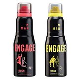 Engage Men Deo (Rush, Urge) Pack Of 2- 165ml Each