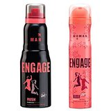 Engage  Deo (Rush, Blush) Pack Of 2- 165ml Each( Men  Women)