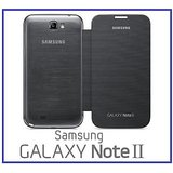 Samsung Galaxy Note 2 N7100 Silver Grey Flip Cover Back With Nfc