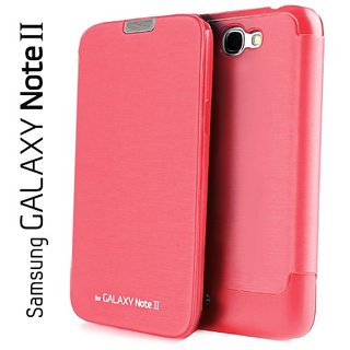 Samsung Galaxy Note 2 N7100 Flip Cover  Pink  With NFC Support available at ShopClues for Rs.199
