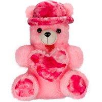 Huggable Soft Toy Cap-heart Teddy Bear Pink- 23 Inch