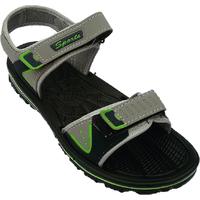 Kizashi Men's Gery,Dark Green Velcro Sandals